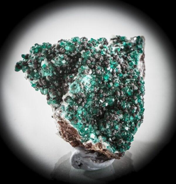 dioptase-heterogenite-calcite-560759215